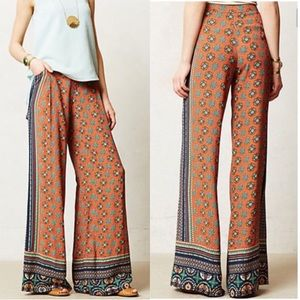 ANTHRO ELEVENSES TILED WIDE LEG Palazzo RustFloral